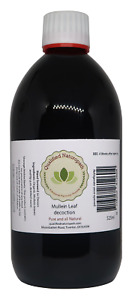 Mullein Leaf Decoction 525ml in a glass UV resistant bottle