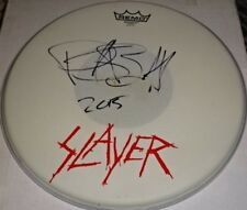 Slayer Drummer Paul Bostaph Stage Used Drumhead Autographed