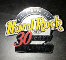 Hard Rock Cafe pin Atlanta 2001 30th Anniversary HRC -black & silver Logo