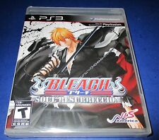 Bleach:Soul Resurrección Sony PS3 Factory Sealed! Free Shipping!