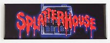 Splatterhouse Marquee FRIDGE MAGNET (1.5 x 4.5 inches) arcade video game