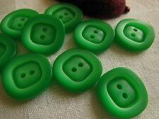 Set 6 bottoni verde tvintage merceria cucito Diametro: 1,9 / 2 cm REF 1640