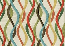 Infinity Fabrics Gesto Multi  Beige Gold Green Blue Brown   Upholstery Weight