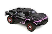 Custom Body Muddy Pink Black for Traxxas 1/10 Slash Truck Car Shell Cover 1:10