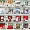 Shower Curtain With 12 Hooks Christmas Santa Claus Snowman Waterproof Bathroom