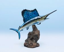 "Taxidermy Sailfish Statue 14"" Fiberglass Fish Mount"