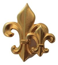 Vintage Fleur de Lis Satin Finish Goldtone Brooch Pin Gold Tone 20264