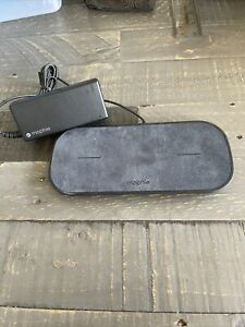 Mophie Dual Wireless Charging Pad With AC Adaptor. Mint. Model: dual-wrls-base