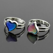 Magic Temperature Emotion Feeling Mood Ring Color Change Heart Shaped Kids Adult