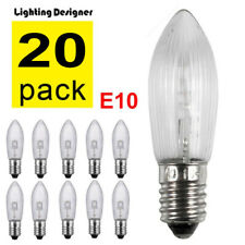20X E10 LED replacement bulbs top candle for fairy Light Bulbs lamp 10-55V AC w7