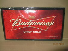 Budweiser Rubber Backed Bar Runner/Mat - thin type 440x240 pub/bar/mancave