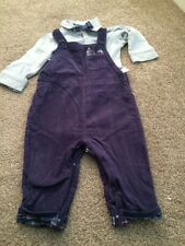Mothercare Boys Dungaree Set Age 6-9 Months