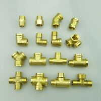 1/2 In. Brass Male Female Thread Adapter Connector Plumbing Pipe Fitting Kit New