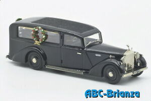 Abc Brianza 371 - Rolls Royce Silver Wraith - Hearse 1950 Black 1/43