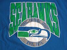 Vtg 1990s Seattle Seahawks Jersey Football NFL Logo T Shirt L