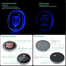 2x Colorful LED Car Cup Holder Pad Mat for Dodge Auto Interior Atmosphere Lights