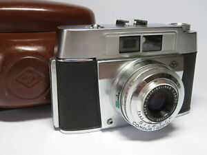Agfa Silette Compact Vintage 35mm Camera with Leather Case