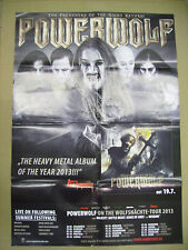 POWERWOLF PREACHERS OF THE NIGHT PROMO POSTER ADVERT cm. 59x83