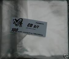 CD D/T - WR BUSTE pacco da 100 -Cofanetti CD Doppi e Tripli e PS1 doppi e tripli