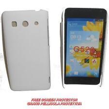 Pellicola+custodia BACK COVER RIGIDA BIANCA per Huawei Ascend G525 G520 (C2)