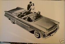 1958 Chevrolet Impala Convertible Top View 12 X 8 Black & White Picture