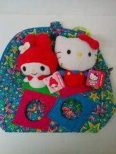 Sanrio Hello Kitty My Melody plush doll set & Jackpopz backpack bag toy