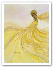 AFRICAN AMERICAN ART PRINT Golden and Elegant Dexter Griffin