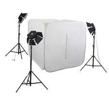METTL Studioset CUBE 700 Lichtzelt Fotozelt 150cm & 3x Studioleuchte Lichtwürfel
