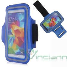 Armband fascia braccio Sport per Samsung Galaxy S5 G900F custodia Azzurro corsa