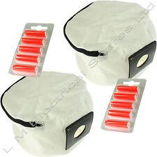 2x Con Zip Riutilizzabile Aspirapolvere Borsa & Deodoranti Per Numatic