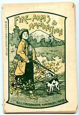 c. 1907 Nippon Firearms Co Guns Rifles Shotguns Catalog Price List Tokyo Japan