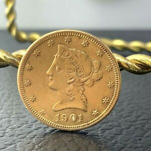 US MS Liberty Head $10 Gold Coin 1901