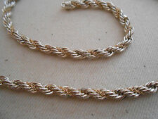 Precious Jewels Heavy Sterling Silver 14K Twisted Chain Necklace   270.046