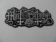 MUTIILATION,IRON ON WHITE EMBROIDERED PATCH