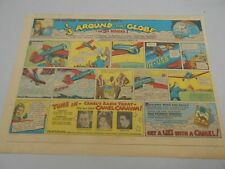"Sunday Comics- Feb.1935- ""1/3 Around The Globe In 51 Hours""- Camel Cigarettes"