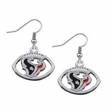 Houston Texans Round Logo NFL Football Pair of Earrings Ear Rings Brand New!
