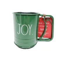 """New RAE DUNN Holiday Christmas LL Green """"JOY"""" Sifter By Magenta"""