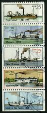 USA - 1989 'PADDLE STEAMERS' Strip of 5 FU SG2389-2393 [A8481]