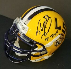 LOS ANGELES LAKERS SHAQUILLE O'neal SIGNED LSU TIGERS COLLEG MINI HELMET PSA COA