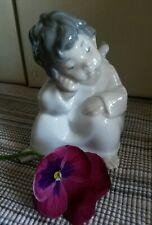 Angelo seduto Lladro'  porcellana