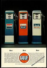 1962 GULF Gasoline Antique Gas Pumps Photo AD Vintage Advertising