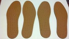 2 pairs Synthetic Leather INSOLE Shoe Insert Pads Comfort Cushioning UNISEX
