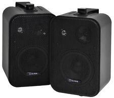Kompakt stereo LAUTSPRECHER-PAAR inkl. Wandhalterungen av:link B30-B schwarz NEU