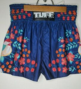 """Tuff Sport Boxing Shorts Blue Birds Size Medium (28""""-30"""") Tuf-ms632-nvb"""