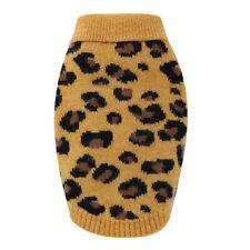 Dog Sweater Pet Winter Knitwear Leopard Pattern Puppy Warm Clothes