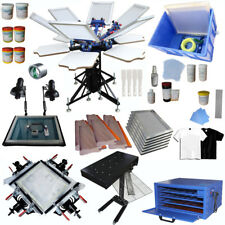 Full Set 6 Color Screen Printing Equipment Kit with Dryer/ Exposure Manual Tools