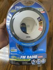 JWIN Portable CD Player With Portable Speaker Mini AM/FM Radio JX-CD337 Sealed