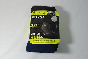 CEP Sportswear Dynamic+ Merino Run Socks Size III Mens Medium Navy/Black
