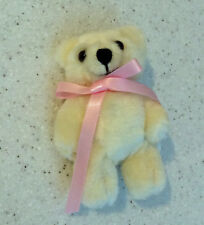 Doll Clothes Teddy Bear with Pink Satin Bow Great with 18 inch American Girl