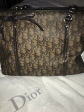 Christian Dior Monogram Logo Trotter Romantique Brown Shoulder Bag- Authentic